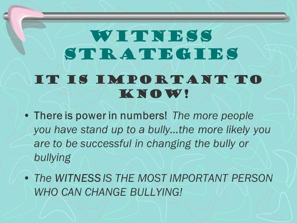 Witness Strategies It is Important to know!