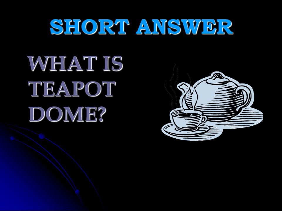 SHORT ANSWER WHAT IS TEAPOT DOME
