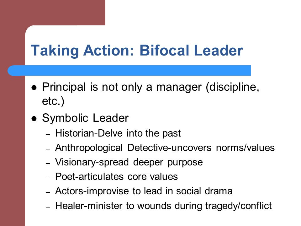 Taking Action: Bifocal Leader