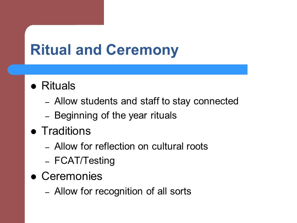 Ritual and Ceremony Rituals Traditions Ceremonies