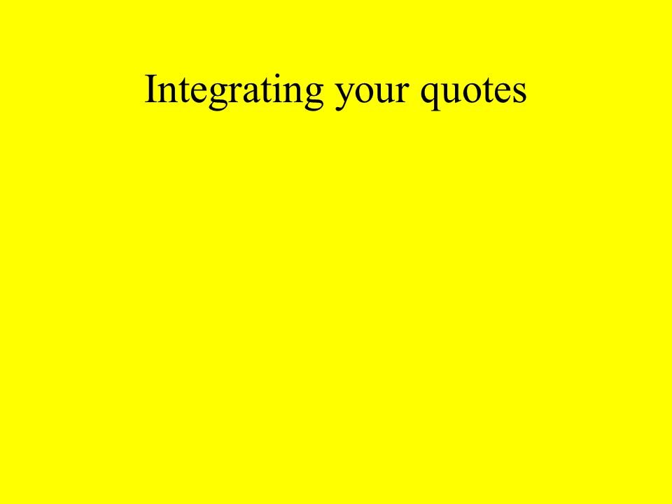 Integrating your quotes