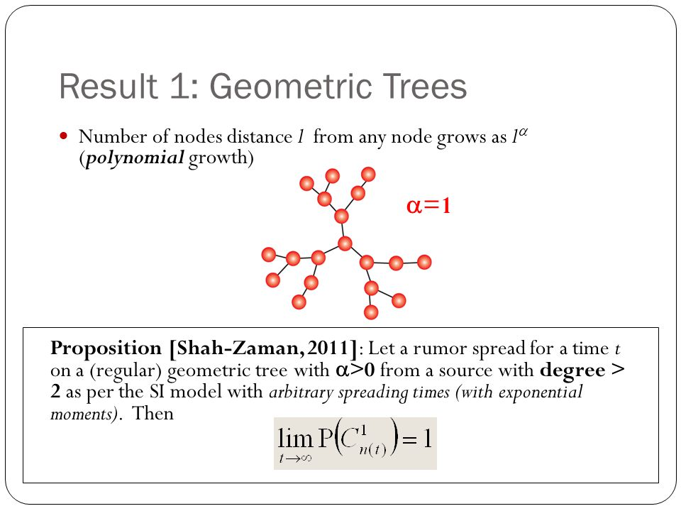 Result 1: Geometric Trees