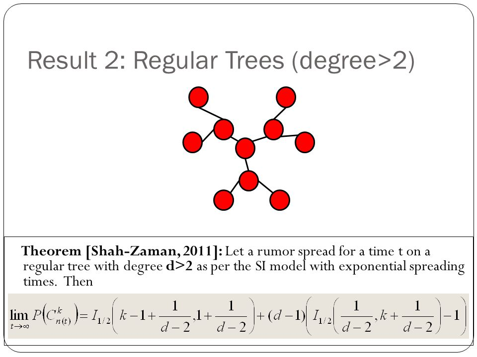 Result 2: Regular Trees (degree>2)