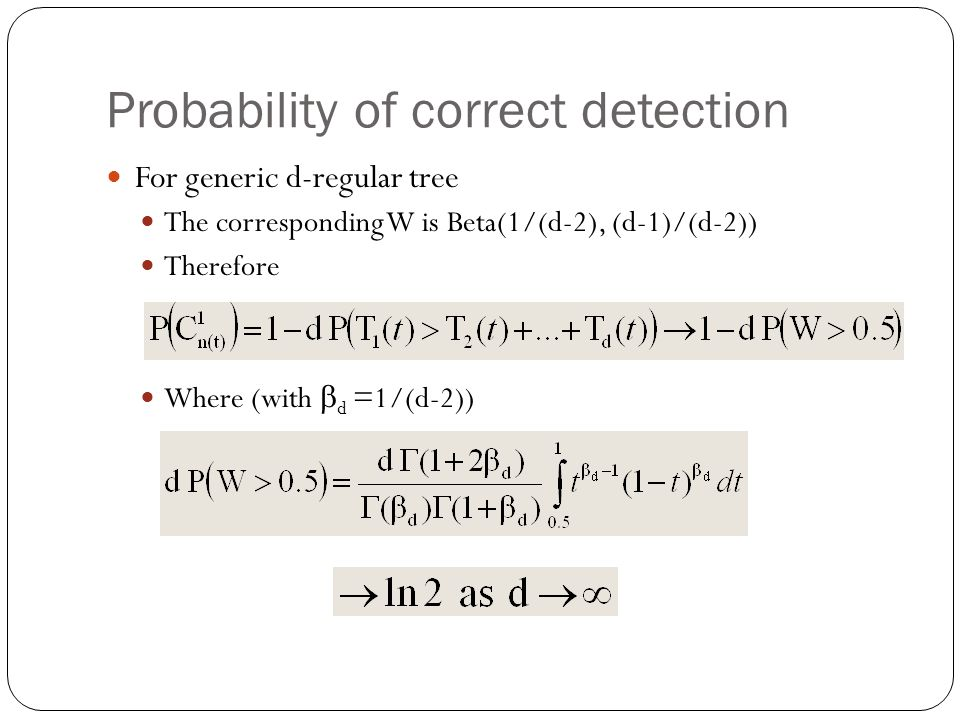 Probability of correct detection