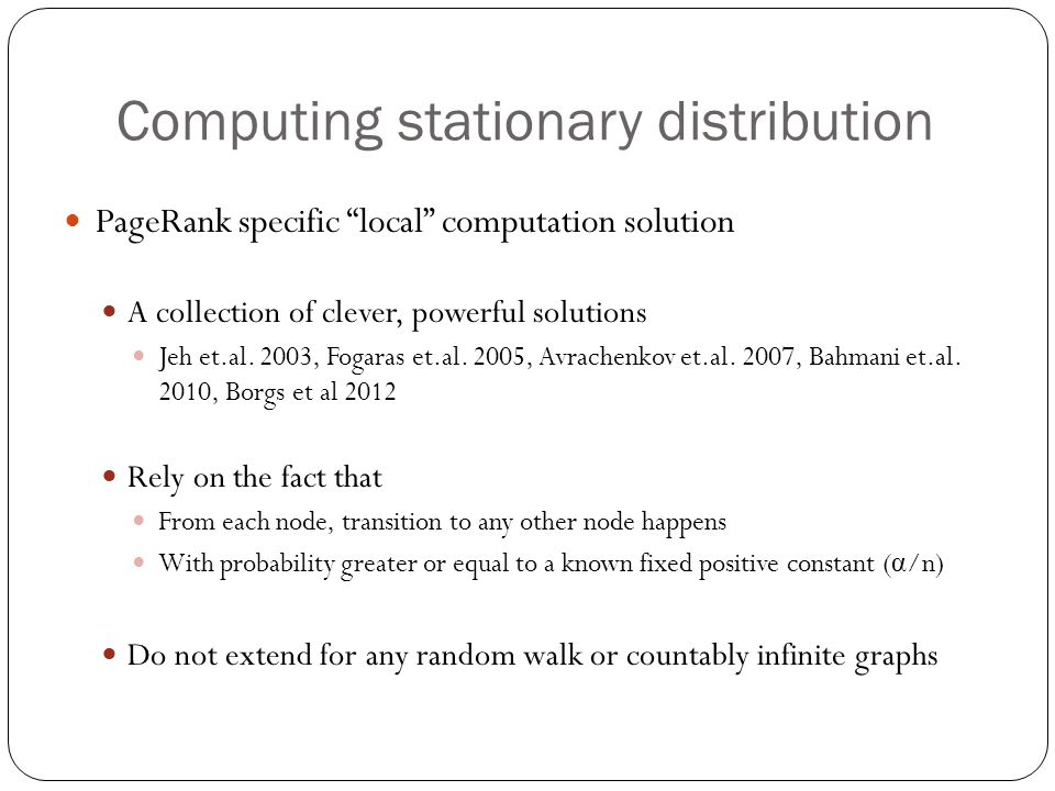 Computing stationary distribution