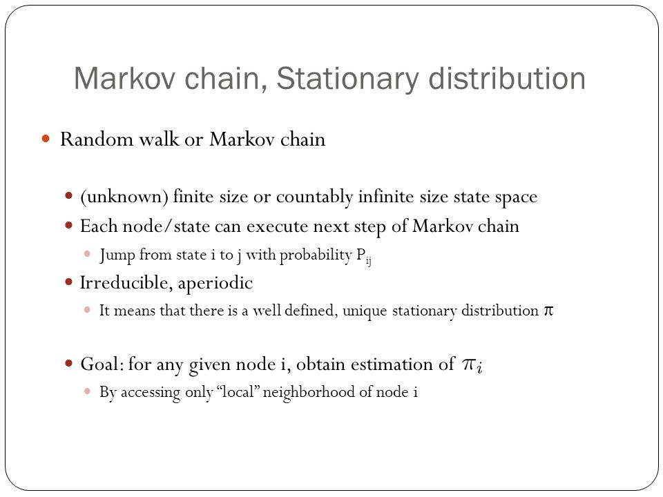 Markov chain, Stationary distribution