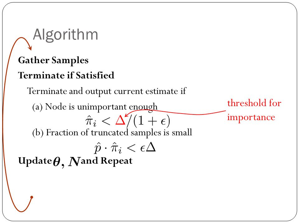 Algorithm threshold for importance