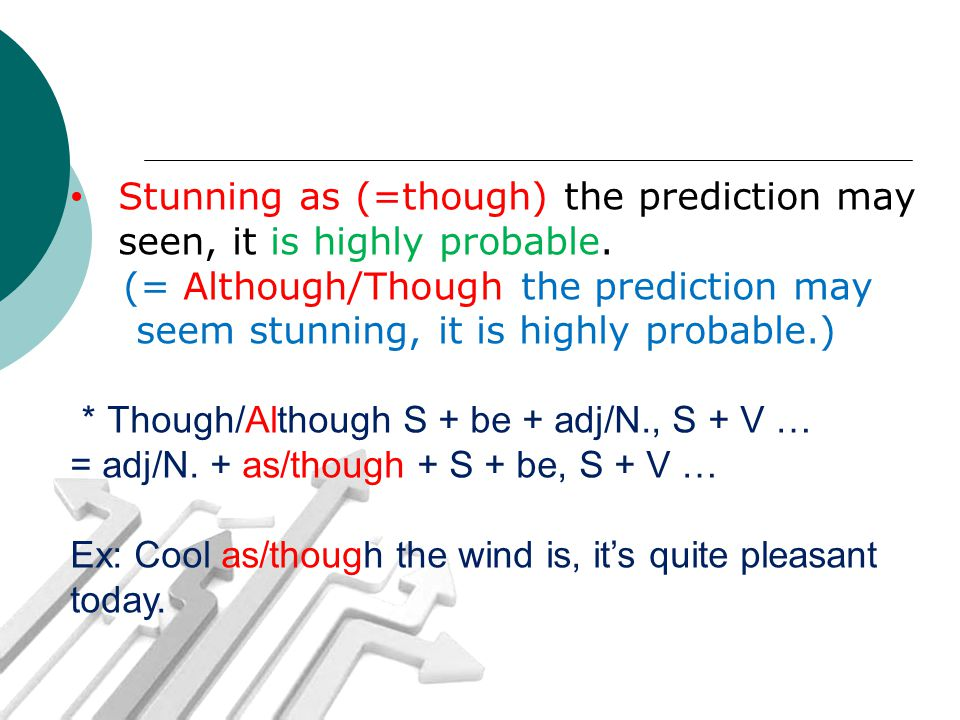 Stunning as (=though) the prediction may seen, it is highly probable.