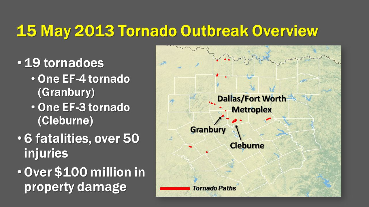 15 May 2013 Tornado Outbreak Overview