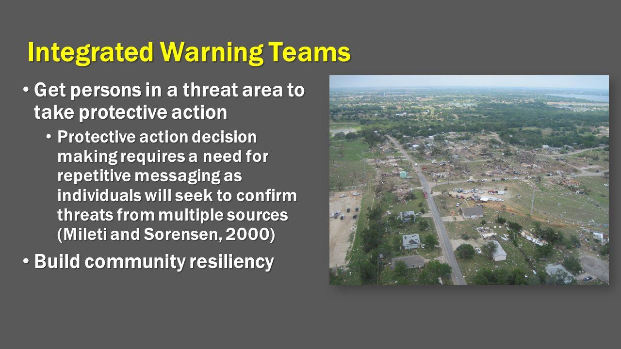 Integrated Warning Teams