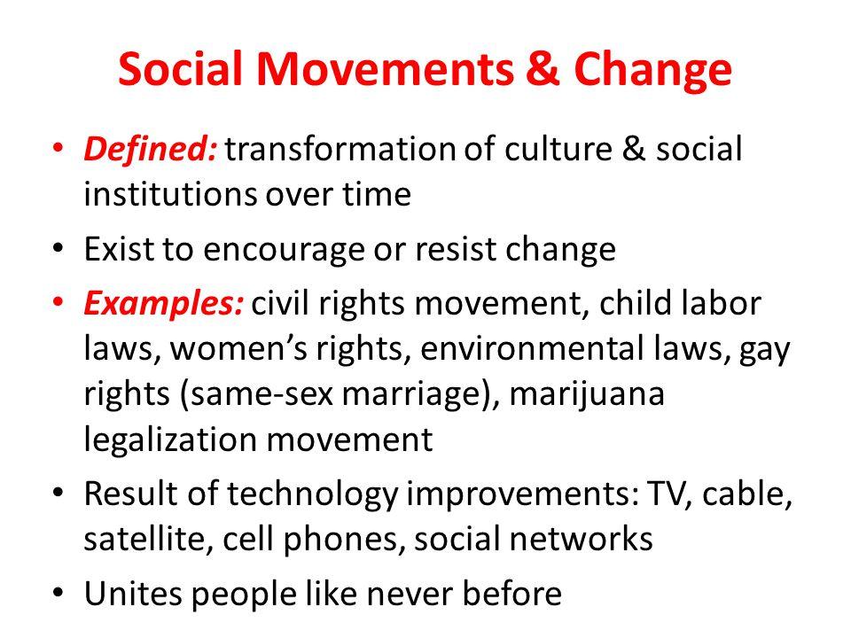 Social Movements & Change
