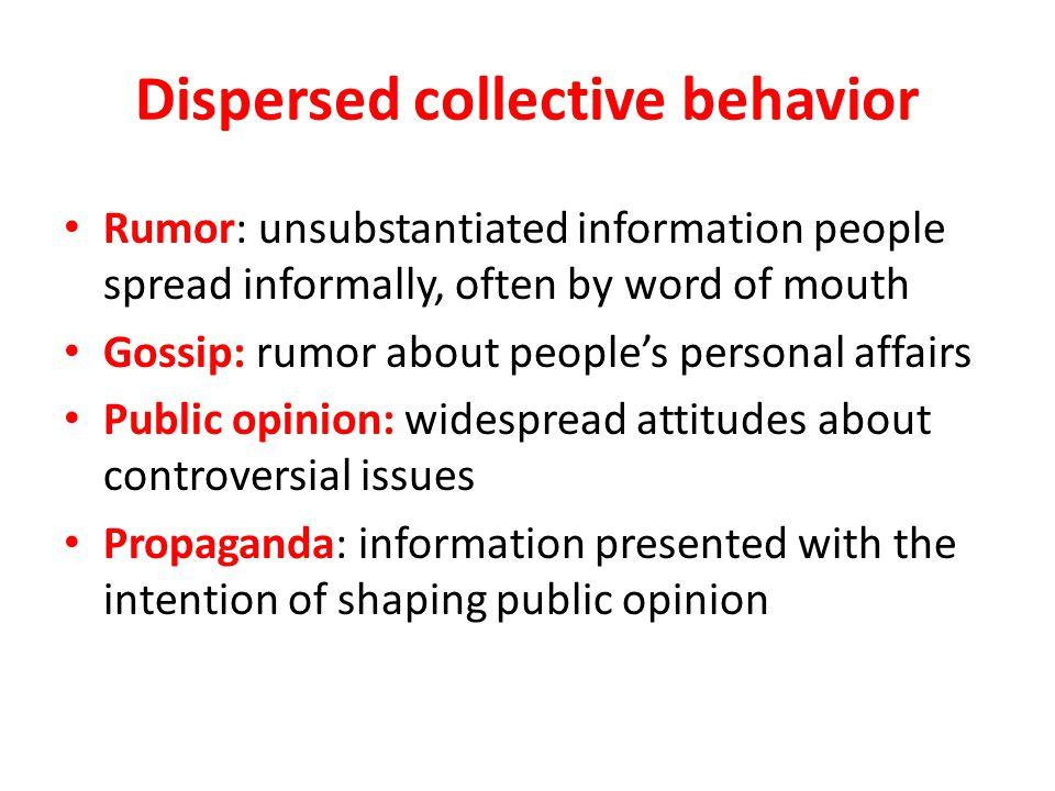 Dispersed collective behavior