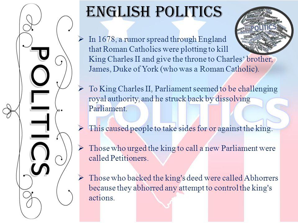 English politics