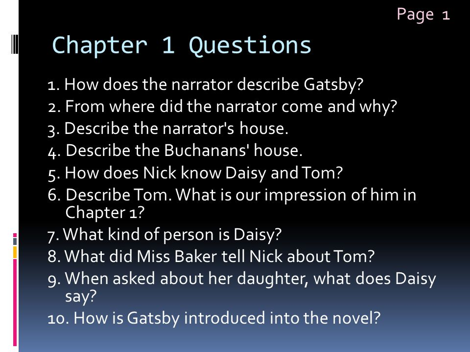 Chapter 1 Questions Page 1