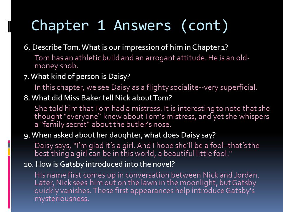 Chapter 1 Answers (cont)