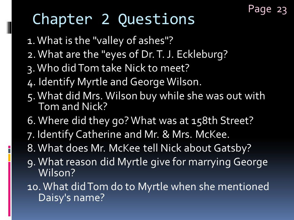 Chapter 2 Questions Page 23