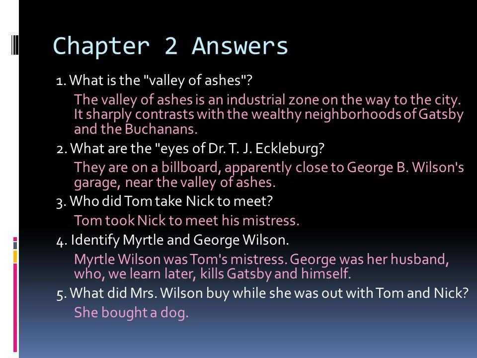 Chapter 2 Answers