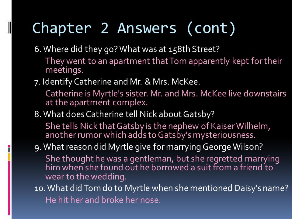 Chapter 2 Answers (cont)