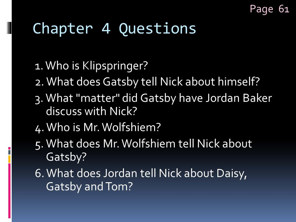 Page 61 Chapter 4 Questions.