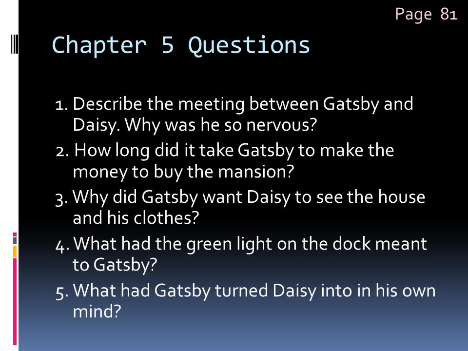 Page 81 Chapter 5 Questions.