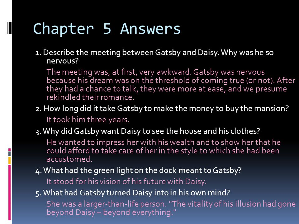 Chapter 5 Answers