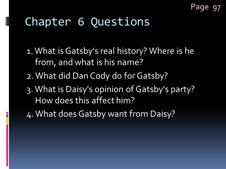 Page 97 Chapter 6 Questions.