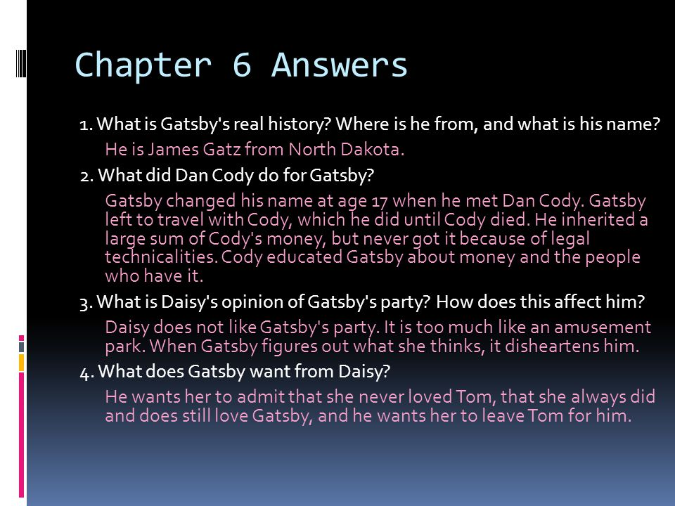 Chapter 6 Answers