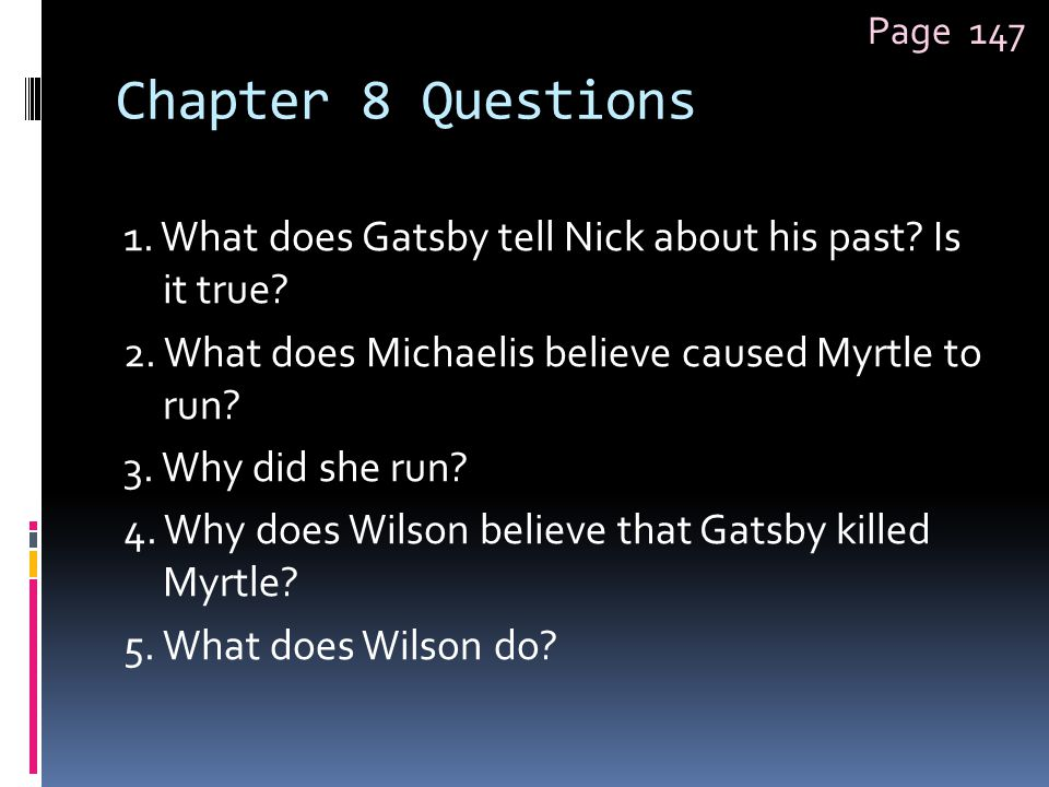 Page 147 Chapter 8 Questions.