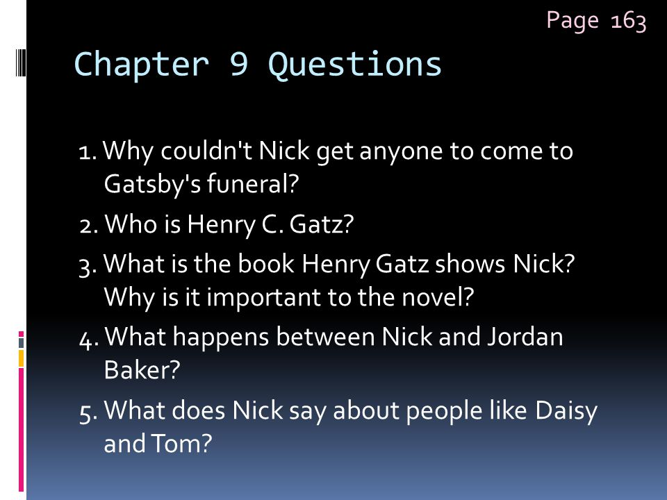 Page 163 Chapter 9 Questions.