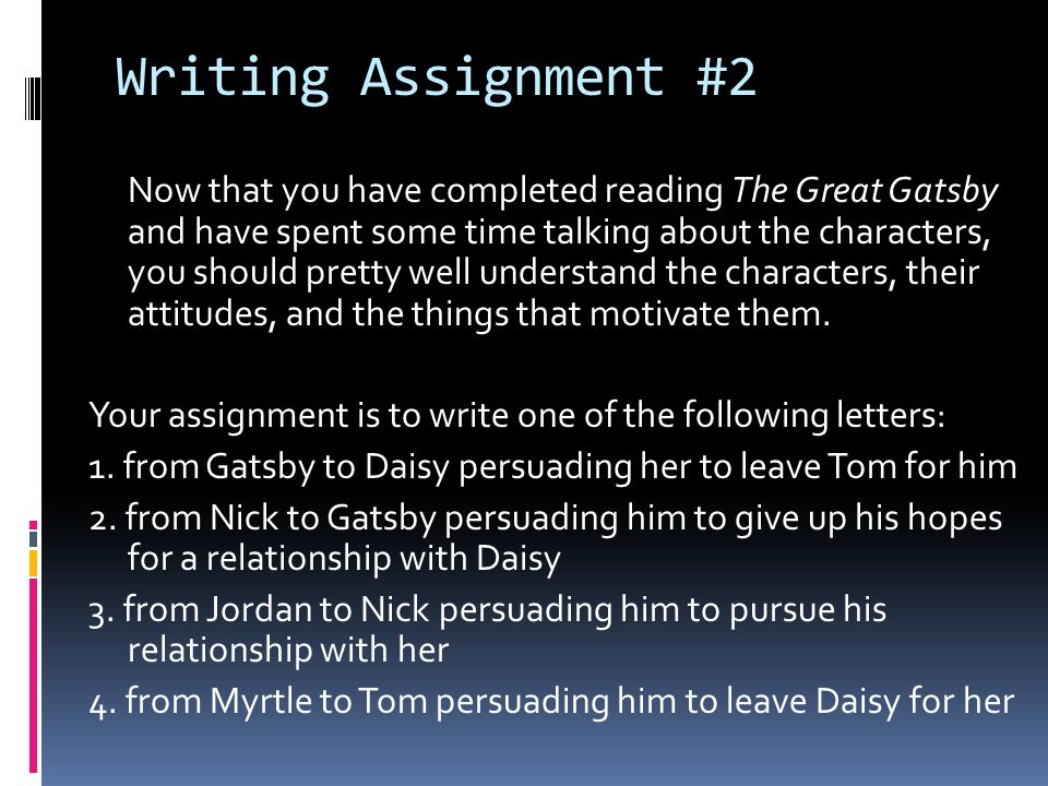 Writing Assignment #2
