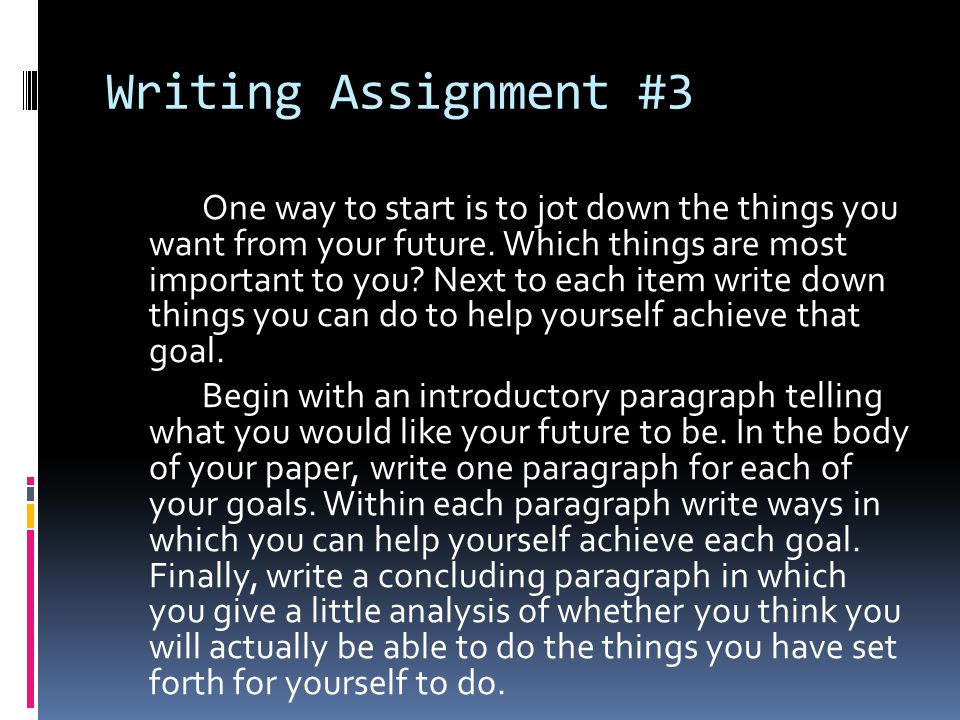 Writing Assignment #3