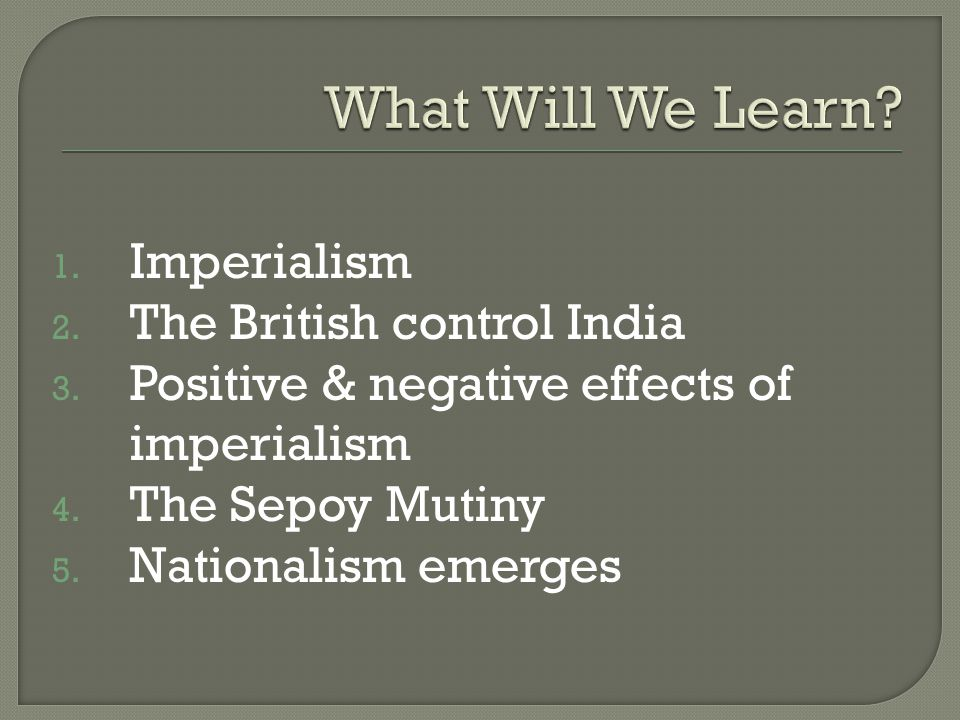 the negative repercussions of imperialism Free essay: world history research paper effects of industrialization and imperialism unit 6: imperialism world history honors / block #6 due: april 16, 2013.