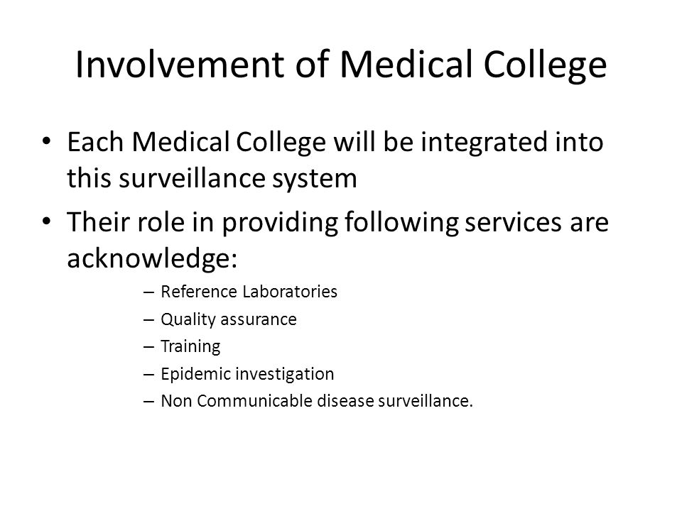 Involvement of Medical College