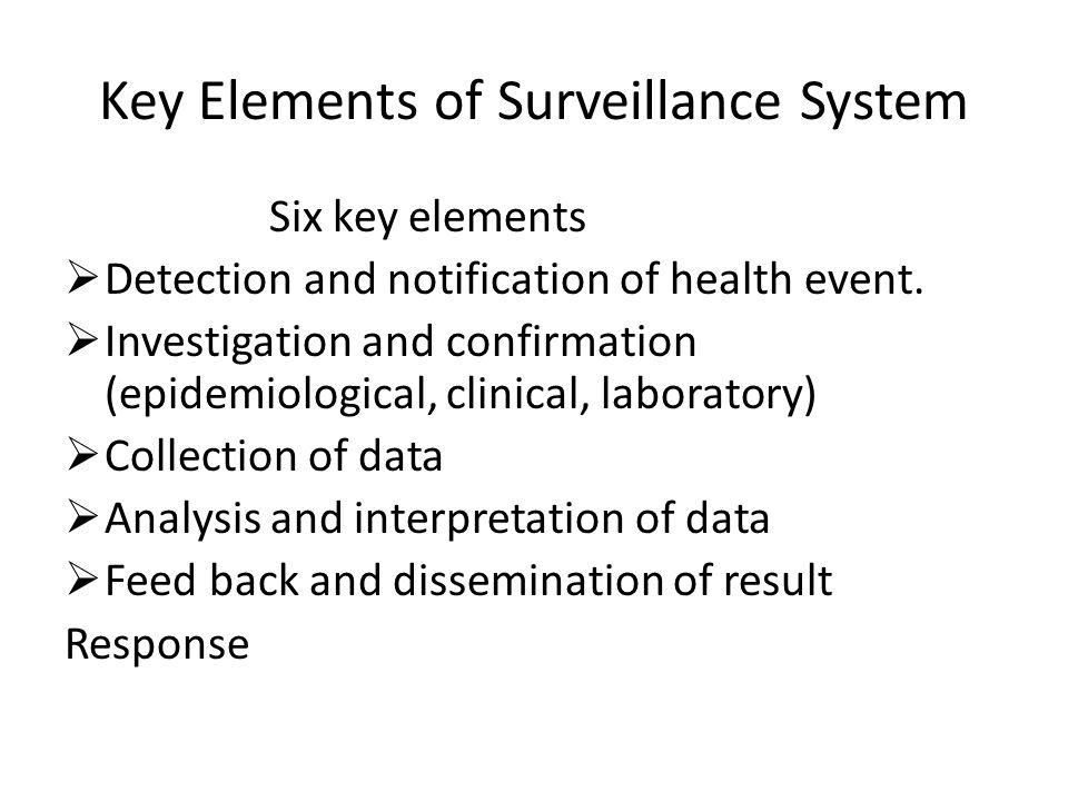 Key Elements of Surveillance System