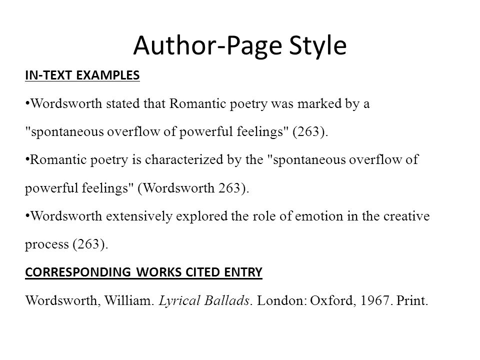 Author-Page Style IN-TEXT EXAMPLES