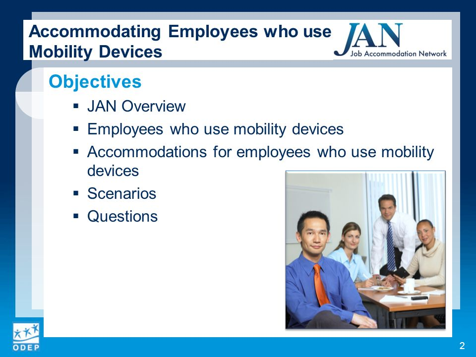 Accommodating Employees who use Mobility Devices