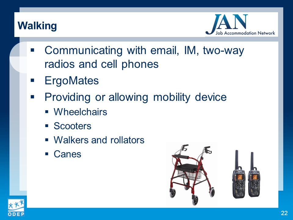 Communicating with email, IM, two-way radios and cell phones ErgoMates