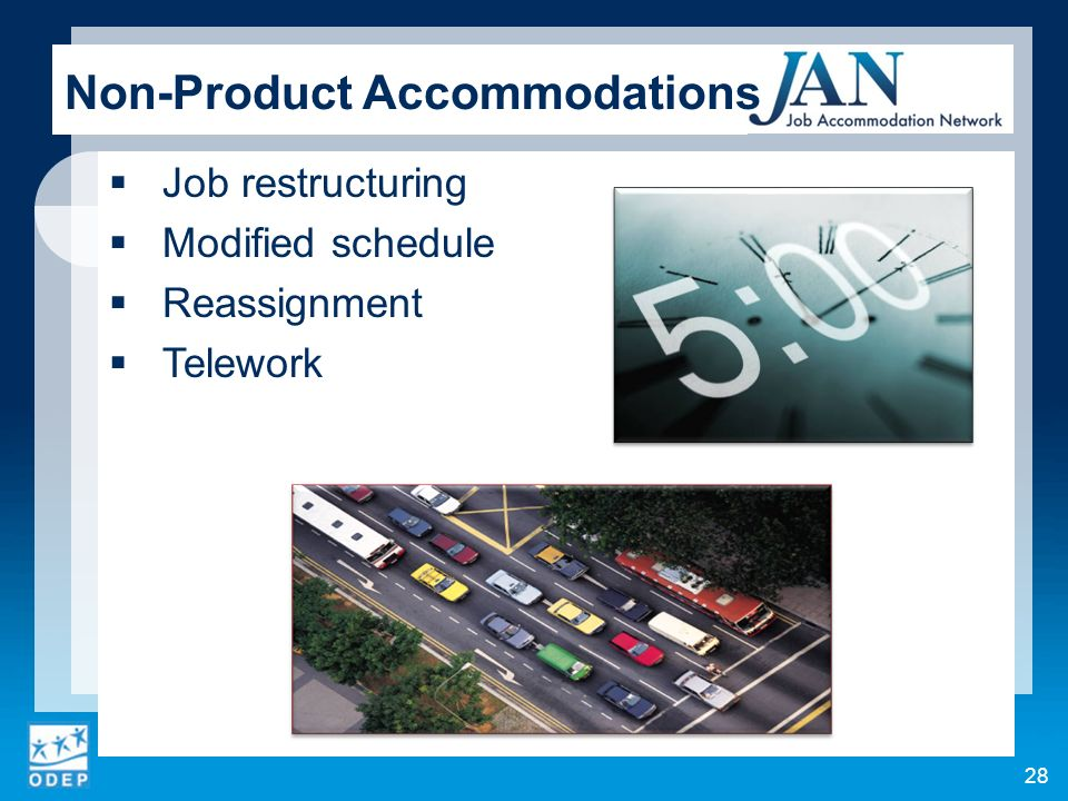 Non-Product Accommodations