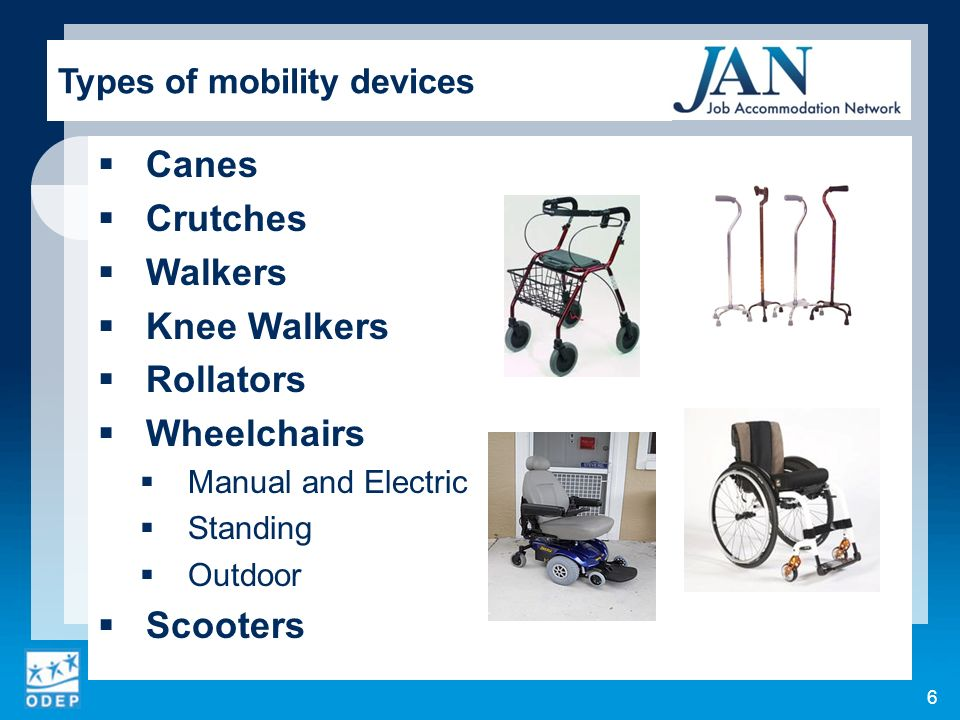 Types of mobility devices