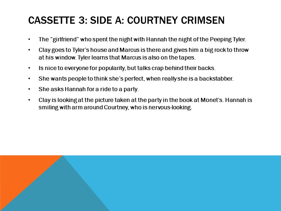 CASSETTE 3: SIDE A: Courtney crimsen