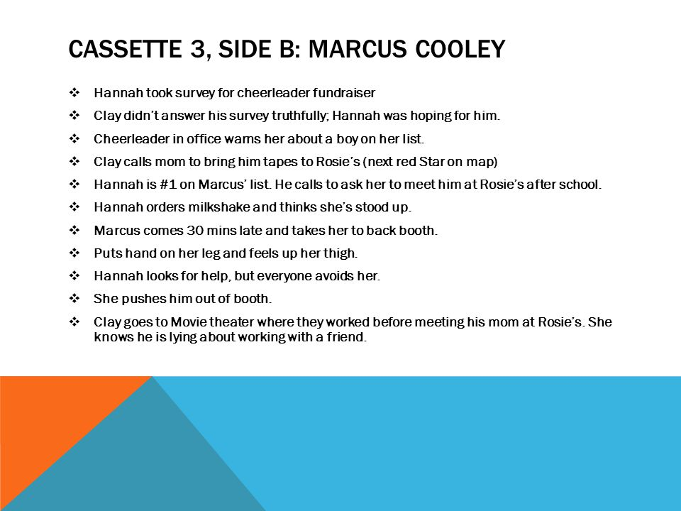 CASSETTE 3, Side B: MARCUS COOLEY