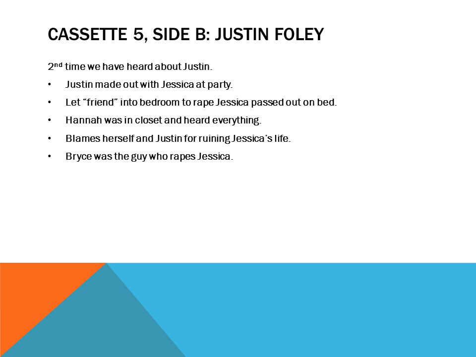 Cassette 5, Side B: Justin Foley