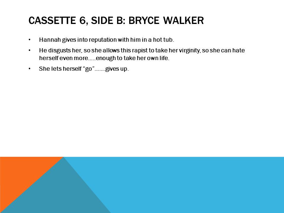 Cassette 6, Side B: Bryce Walker