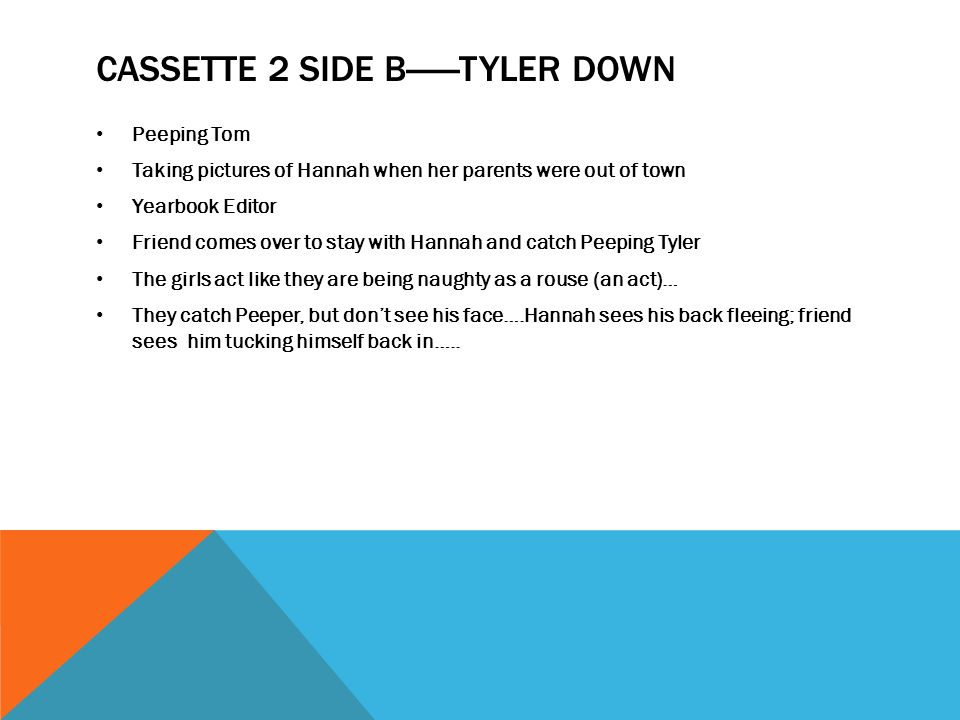 CASSETTE 2 SiDE B------Tyler down