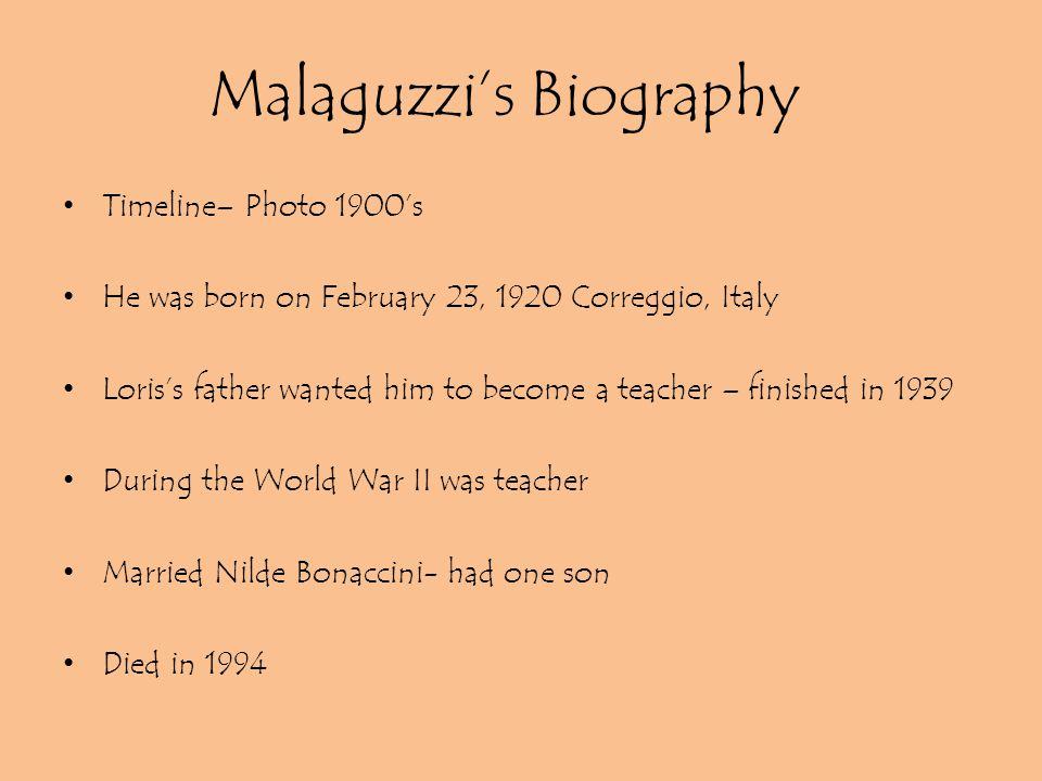 Malaguzzi's Biography