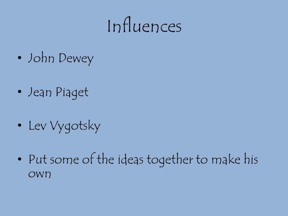 Influences John Dewey Jean Piaget Lev Vygotsky