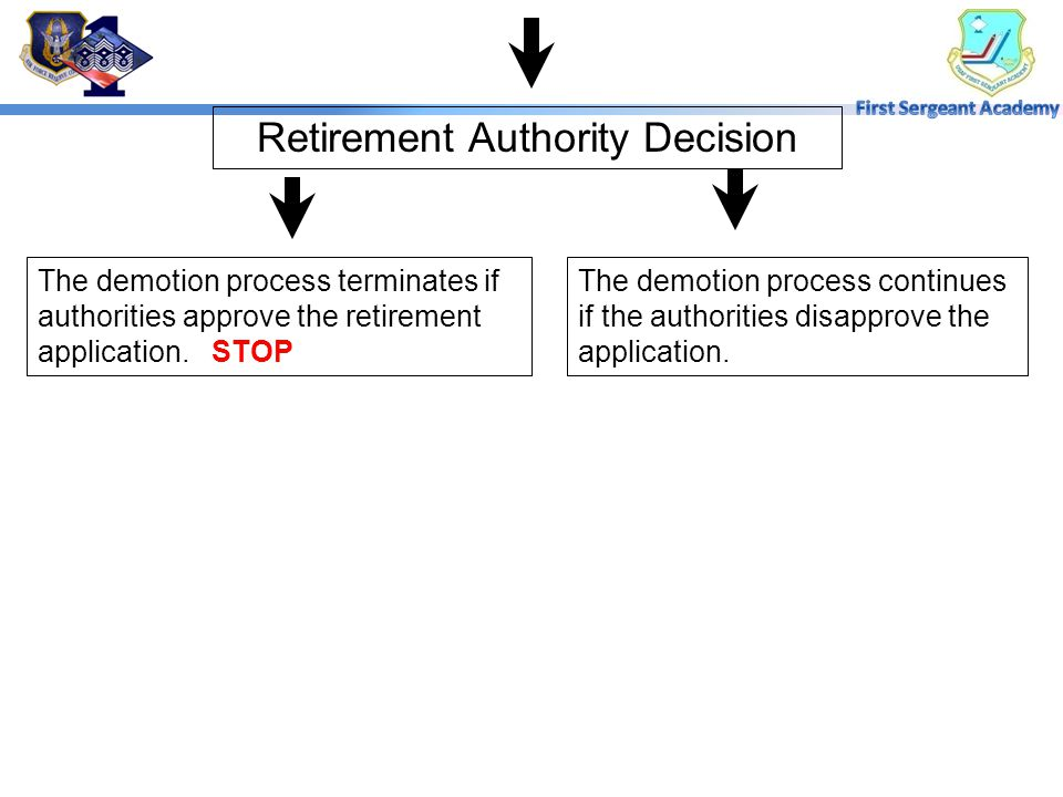 Retirement Authority Decision