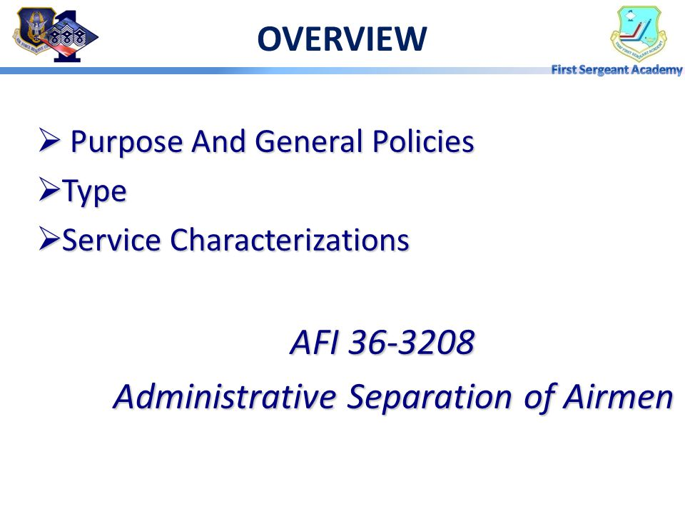Administrative Separation of Airmen