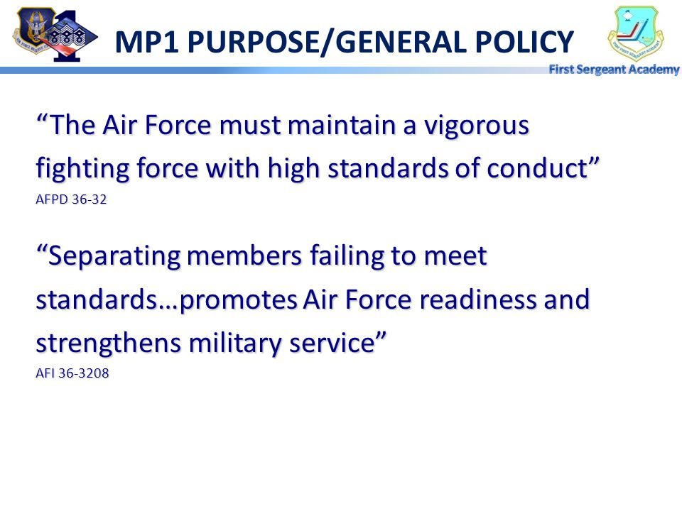 MP1 PURPOSE/GENERAL POLICY
