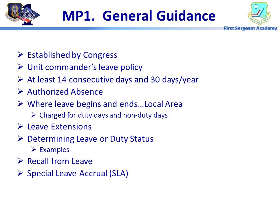 MP1. General Guidance Established by Congress